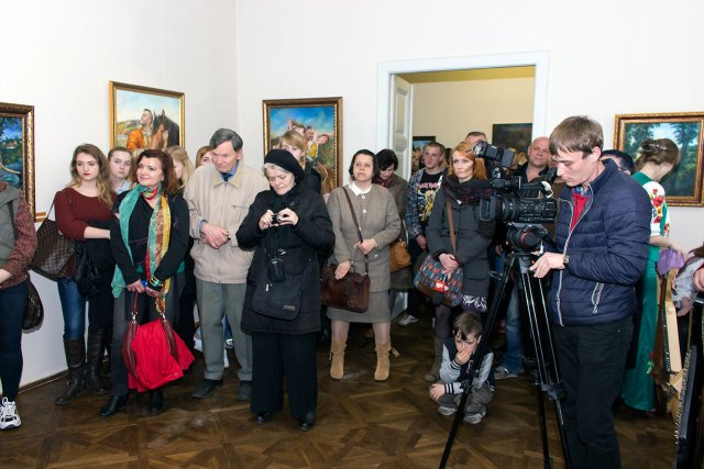 Відкриття виставки Олександра Канібора
