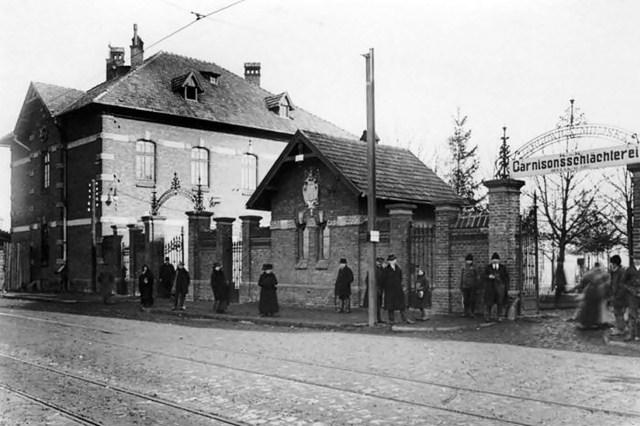 Фото міської бійні, на місці якої тепер Львівський м'ясокомбінат. Початок ХХ ст.