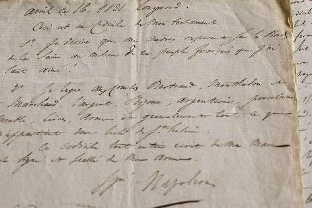 Вигляд заповіту Наполеона Бонапарта. Фото з www.repubblica.it