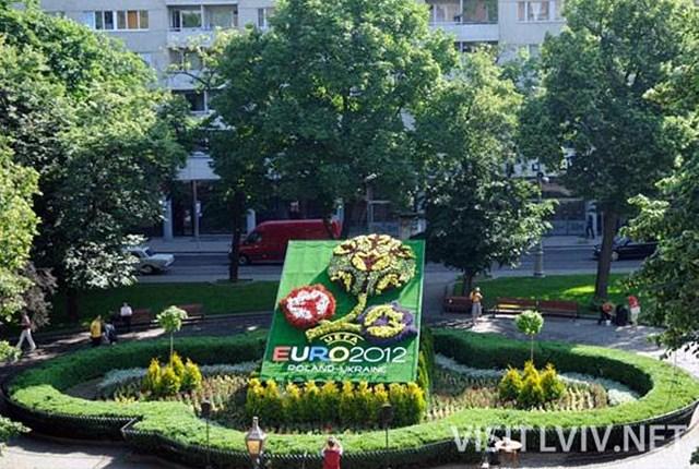 Квітковий логотип турніру Євро -2012