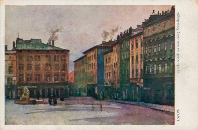 Площа Ринок (1910р) (джерело фото Polona.pl)