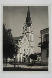 Стрийський костел, історія котрого почалась ще в 14 ст.. Фото 1908 року