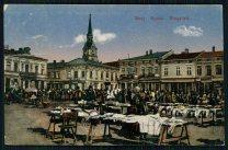 Торги на площі Ринок в Стрию. Листівка 1918 року