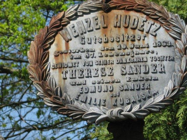 Напис на могилі Венцеля Гудеца у Бродках
