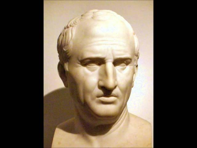 Римський філософ Ціцерон, інший авторитет для єзуїтів. Фото з www.youtube.com