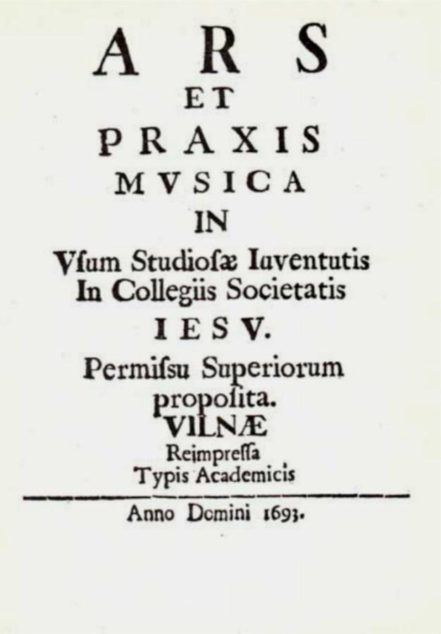 Твір про музичне мистецтво віленських єзуїтів. Фото з https://uk.wikipedia.org