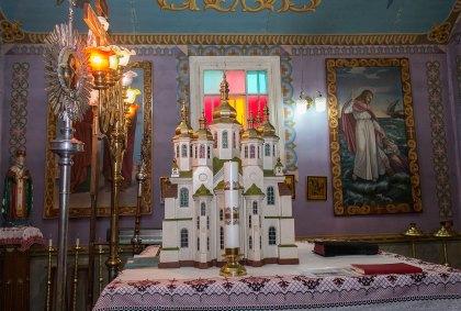 Інтер'єр церкви Св. Миколи в Любіні Великому, 2016 р.