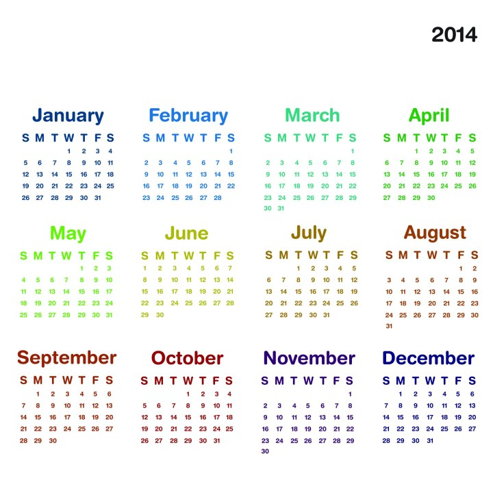 2014 Calendar Printable.10 Happy New Year Gif Free Download 2014