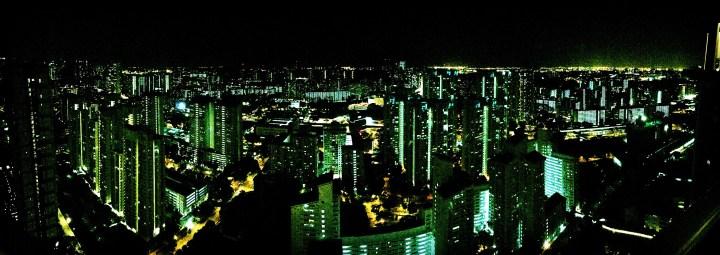 Panorama View of Singapore at Night
