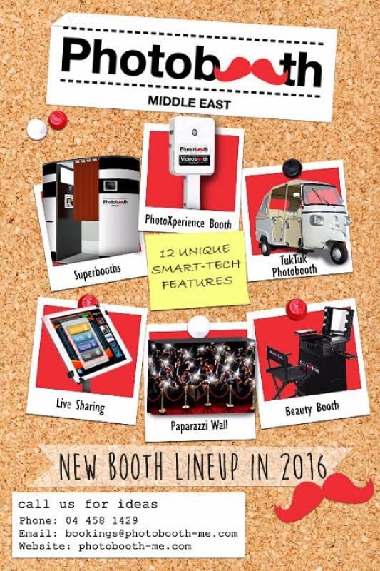 photo booth Dubai 2016 lineup innovations