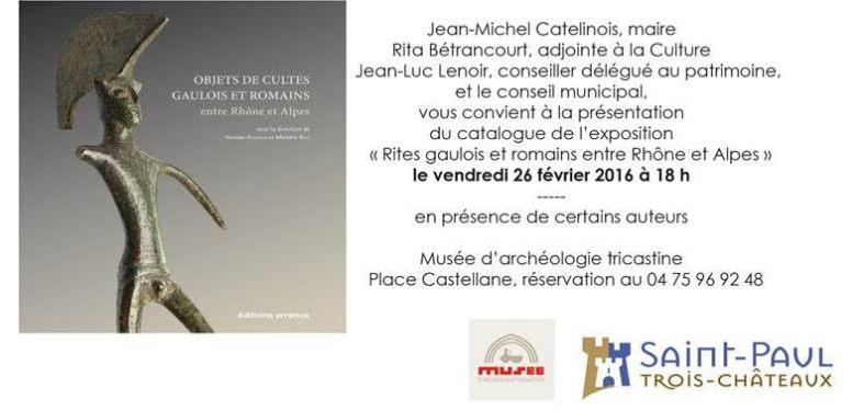 catalogue de l'exposition rites Gaulois et Romains entre Rhône et Alpes