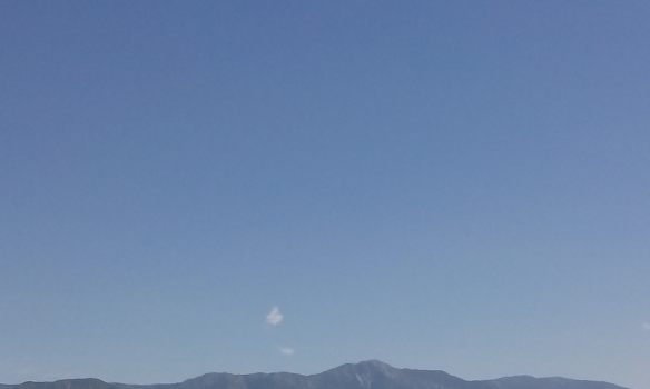 Today I spotted a little cloud floating above the mountains.