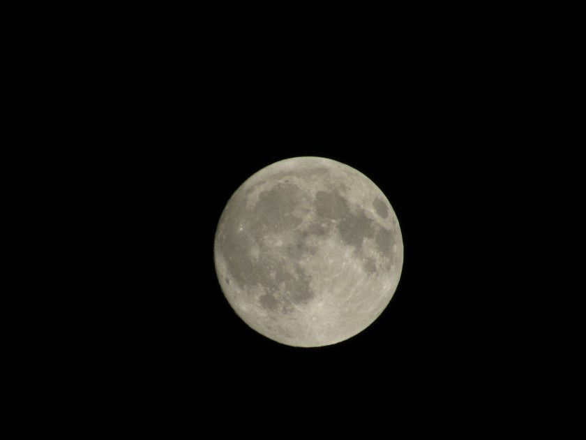 First picture of the moon I captured with my new camera.