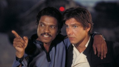 Billy Dee Williams with Harrison Ford in EMPIRE STRIKES BACK