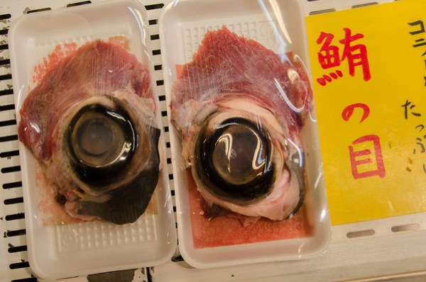 Japanese Food: Giant tuna eyeballs