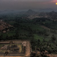 Sunrise from Matunga Hill, Hampi