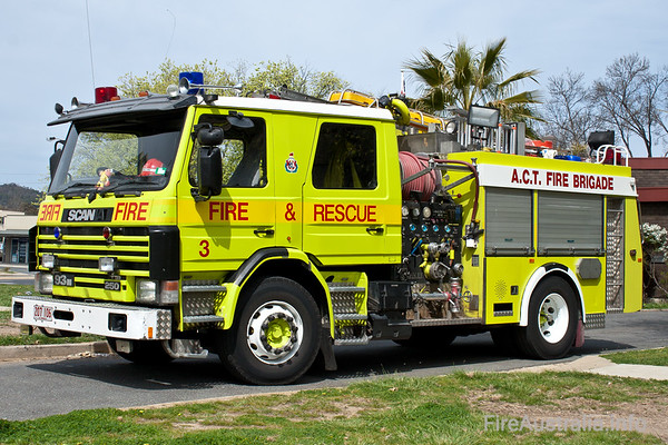 Scania 93M Pumper at Philip Foire Station