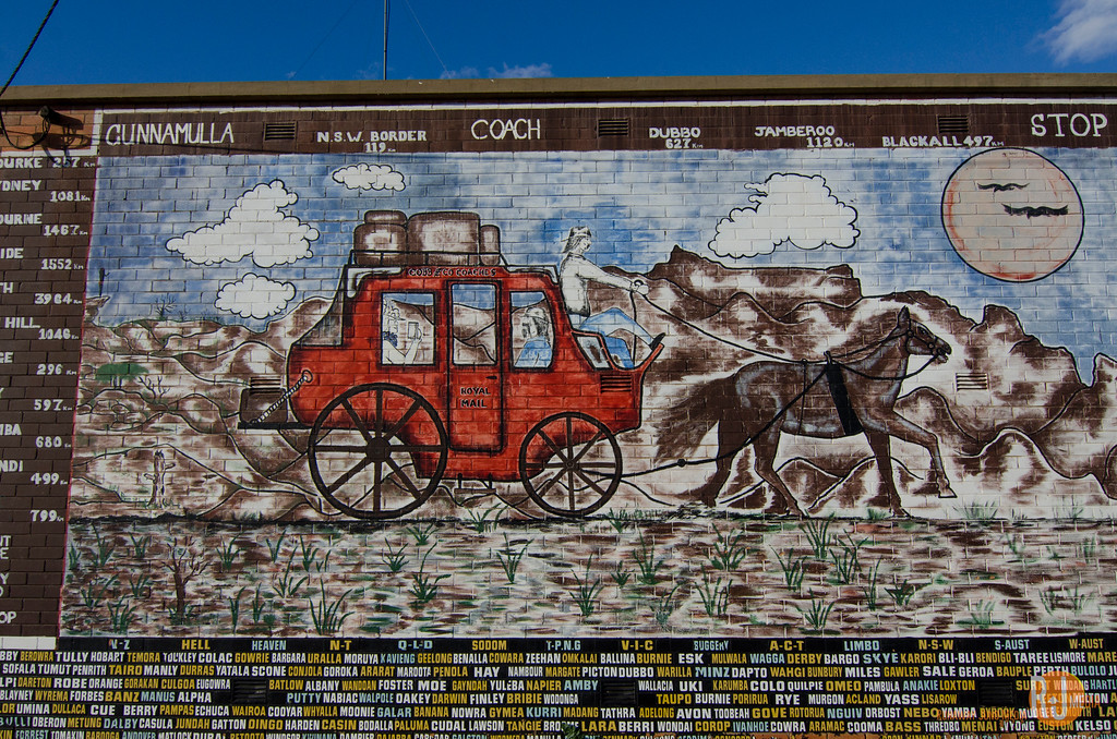 Cunnamulla Coach mural