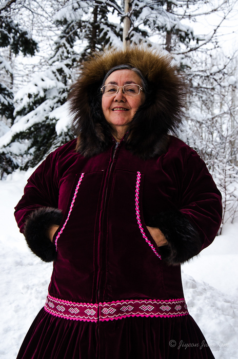 Marge at the Native Heritage Center, Anchorage