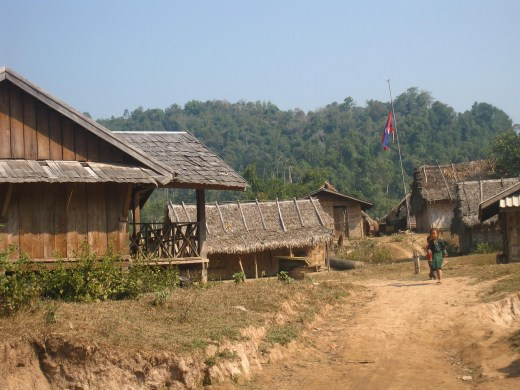 a Laotian villages supported by the Gibbon Experience in Laos