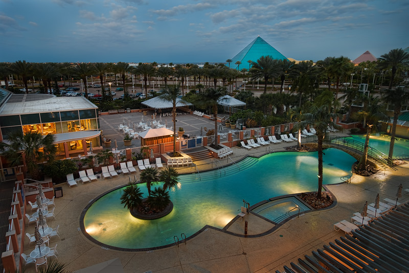 Moody Gardens Poolside at Dawn by Tim Stanley Photography