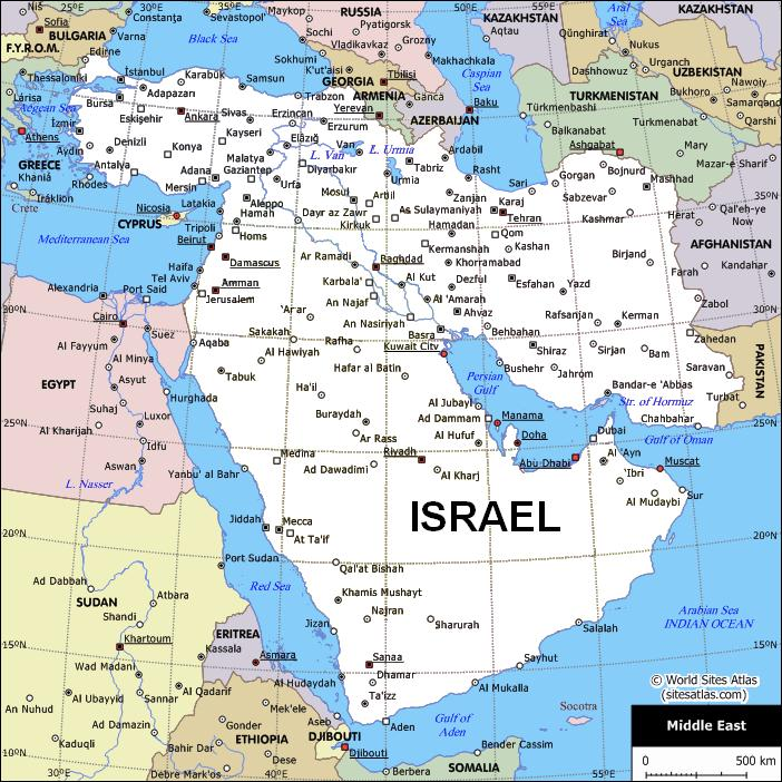map to middle east peace
