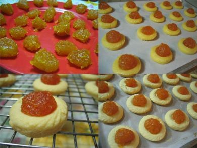 Baking pineapple tarts