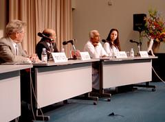 Dr.Ariyaratne speaking at the symposium