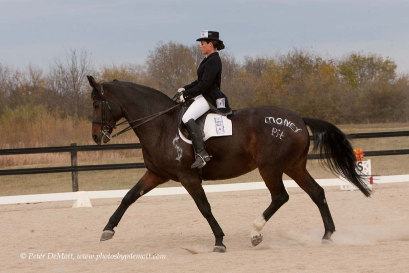 RR3D9194 Costume dressage horse show at Dancing Horse Farm in Lebanon Ohio   perfect for October