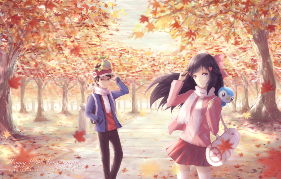pokemon autumn dawn hikari fan art