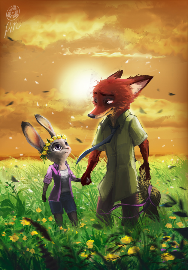 fox rabbit zootopia movie characters
