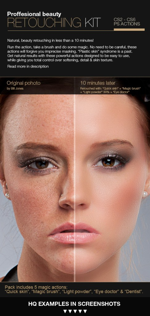 Professional retouching