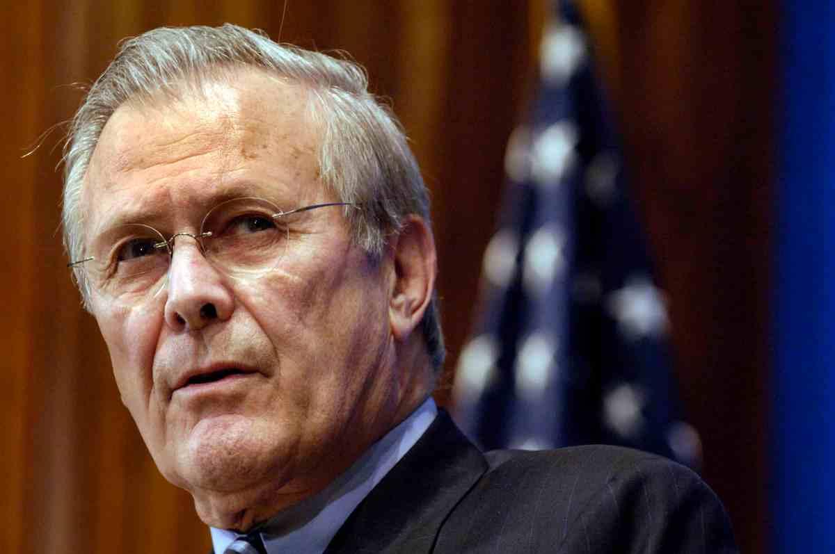 Bringt uns Rumsfeld!