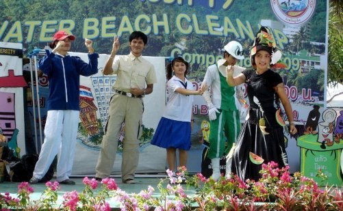Courtesy image of Patong's clean up activity