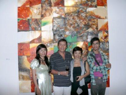 Nguyen Tan Cuong (Vietnamese Artist) and Family