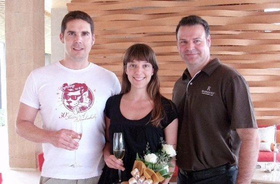 Jason Nuell, General Manager welcomed his first booking guest  Mr. Mirko and Ms. Evory from Germany
