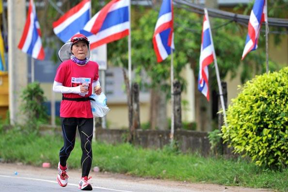 Seniors were among the thousands of runners at the Laguna Phuket International Marathon.
