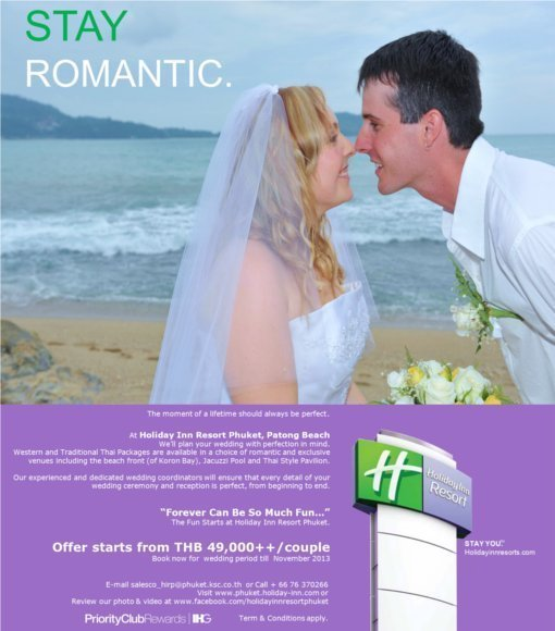 New wedding package of Holiday Inn Patong