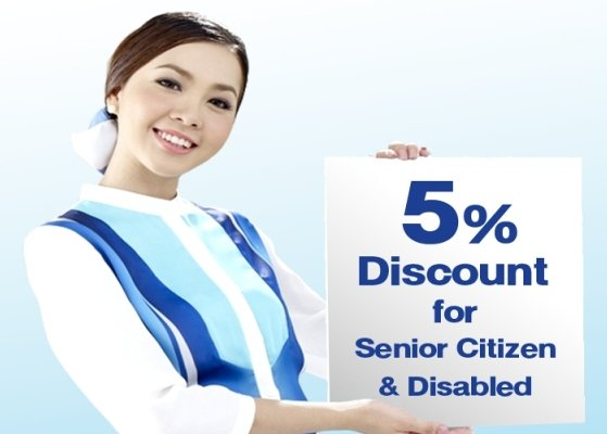 Bangkok Airways offers 5% discount to Thai senior citizen and disabled