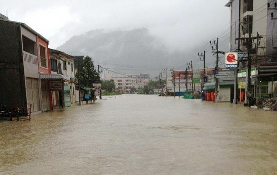 Phuket sees heavy rains cause floods again