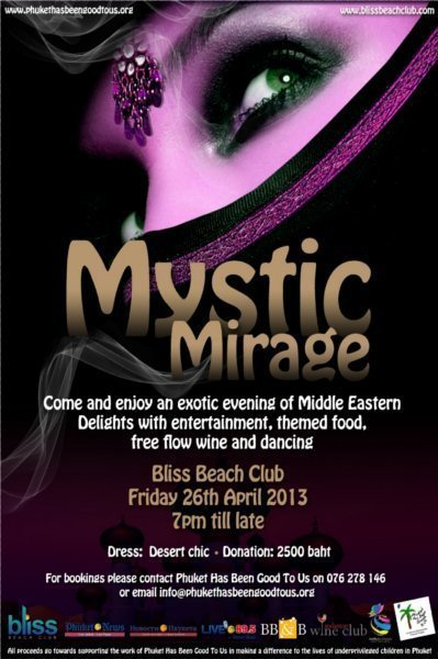 Phuket charity aims to raise 1 million baht at Mystic Mirage event