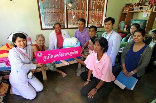 Phuket PAO visits patients of Karon Phuket Care Project