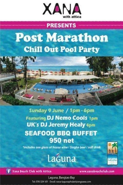 Phuket's XANA to host Post-Marathon Pool Chill-Out