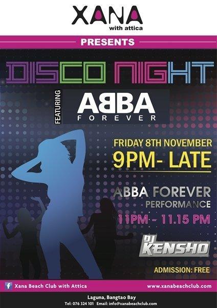 Phuket's XANA to host Disco Night this Friday