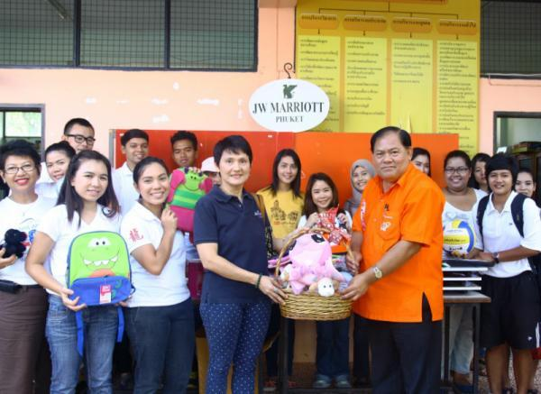 JW Marriott Phuket Donates School Bags to Local Schools