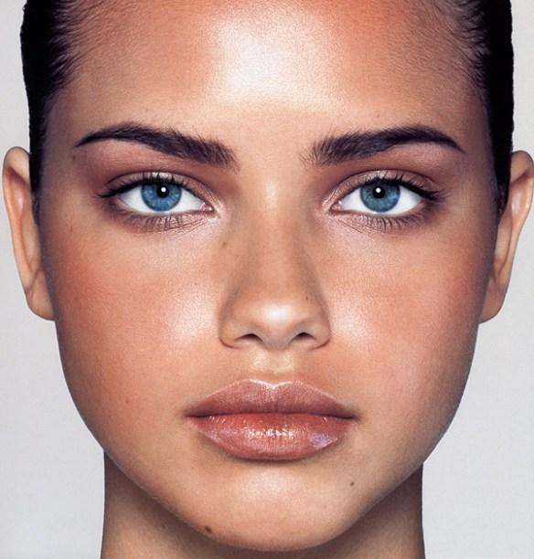 olie visage rond adriana lima morphologie