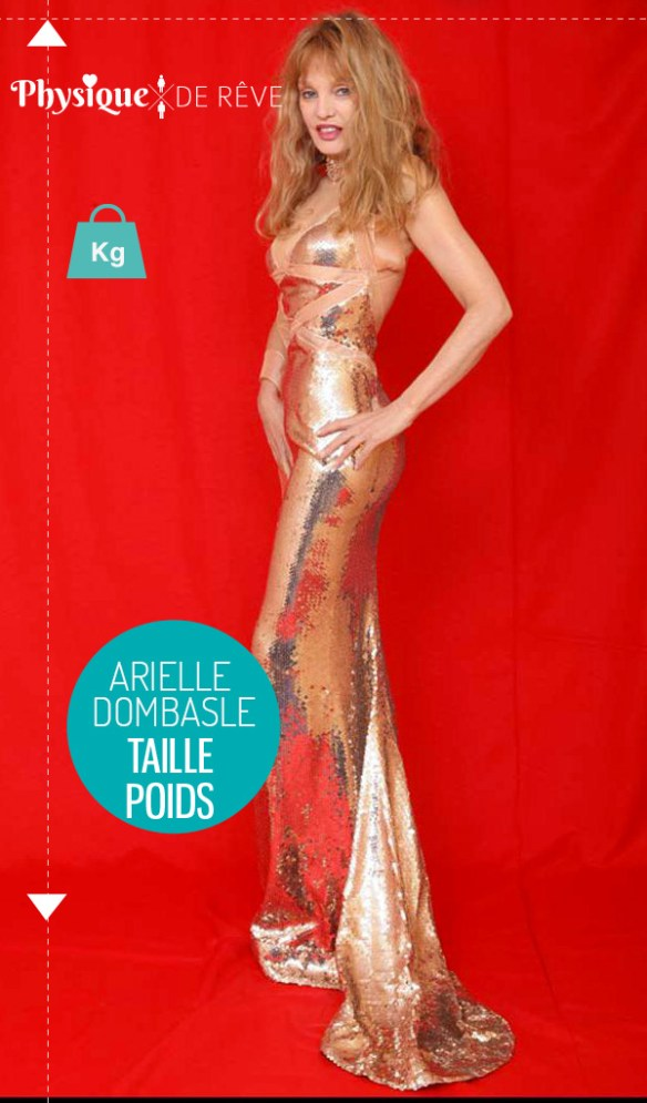 Arielle-Dombasle-taille-poids