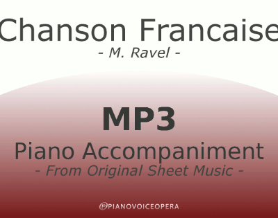 PianoVoiceOpera Chanson Francaise Piano Accompaniment
