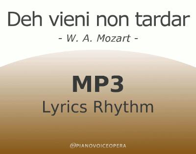 Deh vieni non tardar Lyrics Rhythm