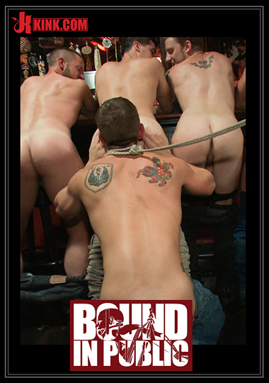 Bound In Public: Naked Ripped Stud Gets Humiliated And Used In A Crowded Public Bar cover